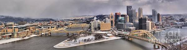 Photograph - Pittsburgh's First Snow Of 2015 by Adam Jewell