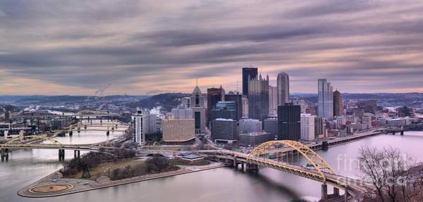 Photograph - Pittsburgh's Purple Rivers by Adam Jewell