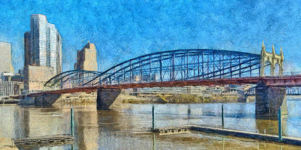 Digital Art - Pittsburgh's Smithfield Street Bridge In Early December by Digital Photographic Arts