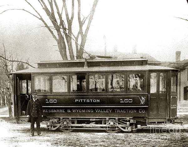Photograph - Pittston Pa Trolley Late 1800s by Arthur Miller