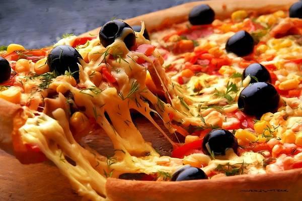 Digital Art - Pizza - Fast Food Serie by Gabriel T Toro