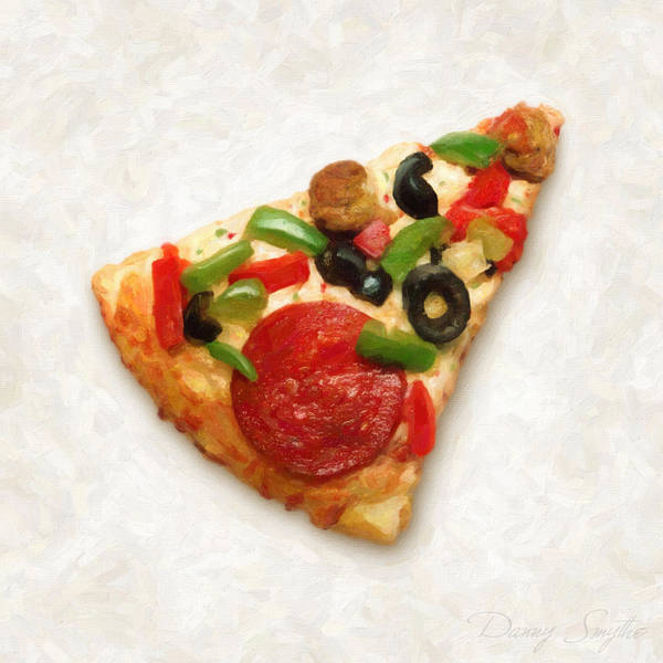 Ingredient Painting - Pizza Slice by Danny Smythe