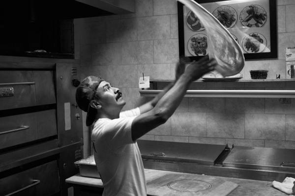 Pizza Toss Art Print
