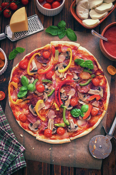 Pizza Photograph - Pizza With Ingredients by Kajakiki
