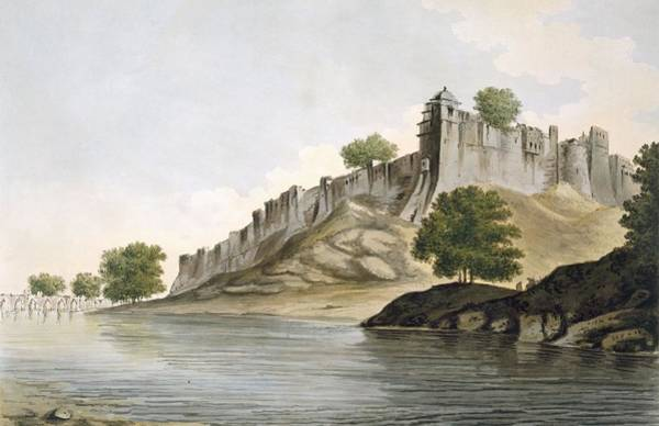 Castle Drawing - Pl. 33 A View Of The Fort Of Ilionpoor by William Hodges