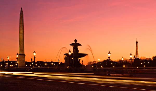 Photograph - Place De La Concorde At Dusk - Paris by Barry O Carroll