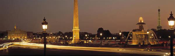 Concorde Photograph - Place De La Concorde Paris France by Panoramic Images