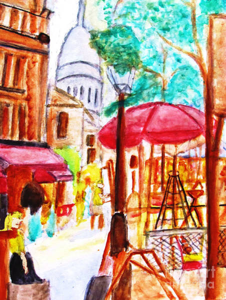 Painting - Place Du Tertre Of Paris by Stanley Morganstein