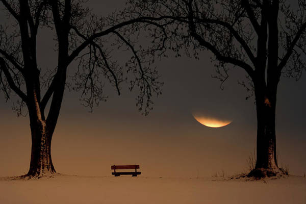 Park Bench Photograph - Place Of Silence by Ingo Dumreicher