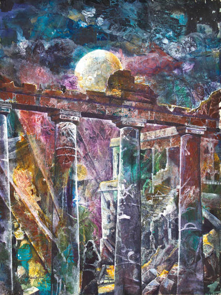 Columns Mixed Media - Places Of Power Timeless by Patricia Allingham Carlson