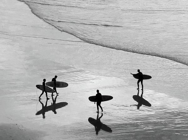 Four People Photograph - Plage De La Cote Des Basques, Biarritz by Izzet Keribar