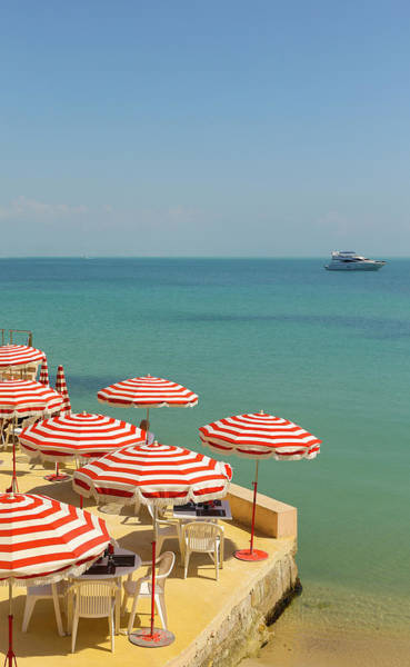 Sunshade Photograph - Plage Privee Pres Dantibes by Patrice Coppee