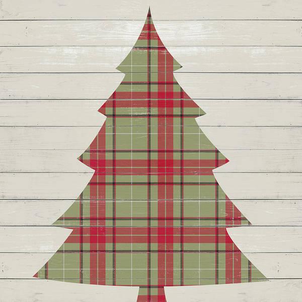 Christmas Tree Digital Art - Plaid Christmas II by Sd Graphics Studio