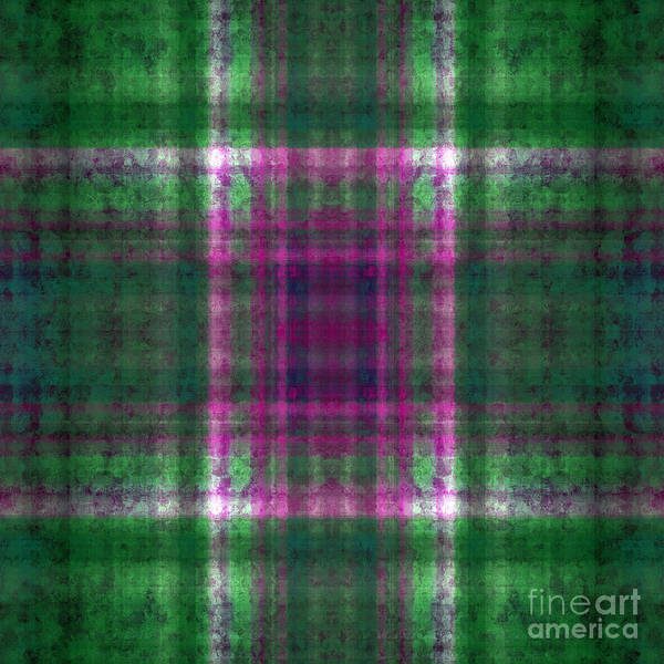 Digital Art - Plaid In Green 3 Square by Andee Design