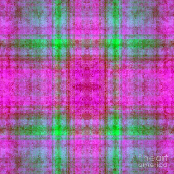Digital Art - Plaid In Pink 2 Square by Andee Design
