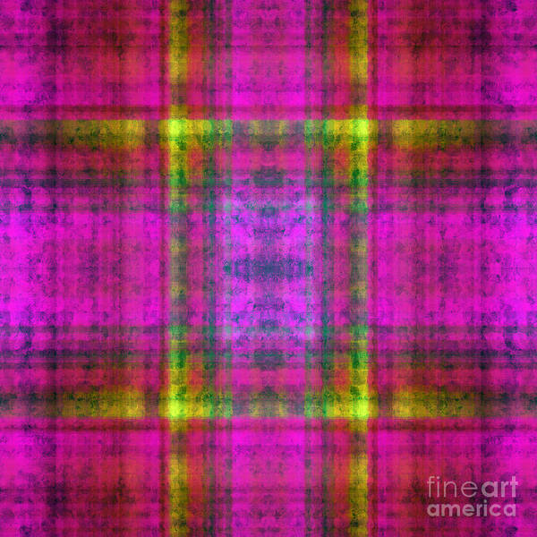 Digital Art - Plaid In Pink 4 Square by Andee Design