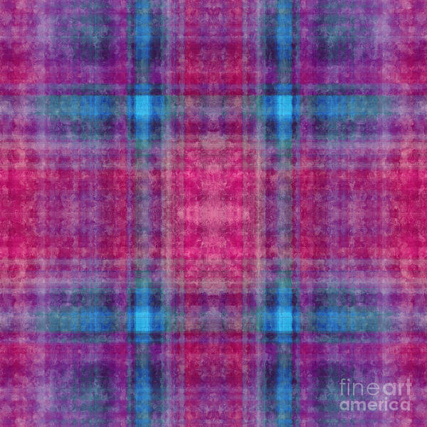 Digital Art - Plaid In Pink 5 Square by Andee Design