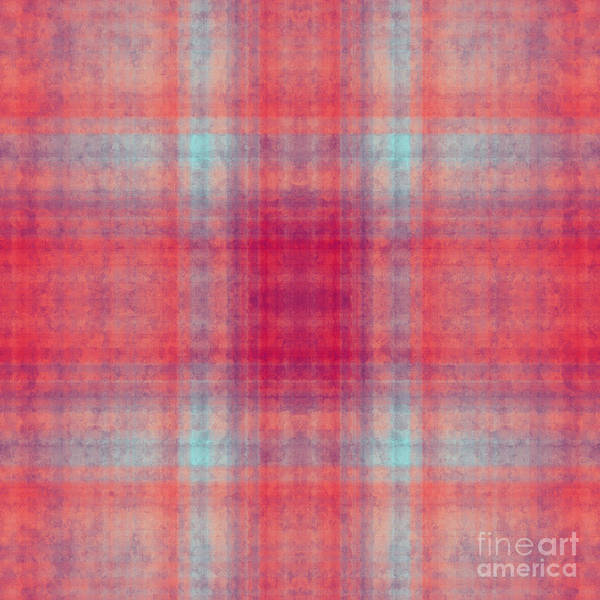 Digital Art - Plaid In Pink 6 Square by Andee Design