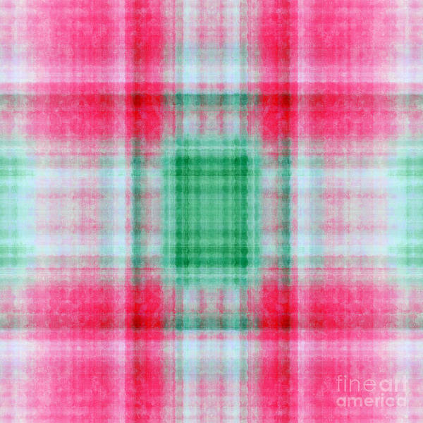 Digital Art - Plaid In Pink 7 Square by Andee Design