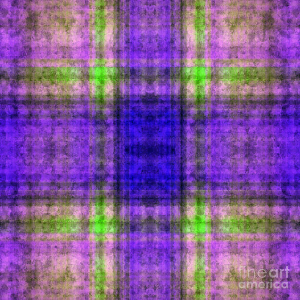 Digital Art - Plaid In Purple 4 Square by Andee Design