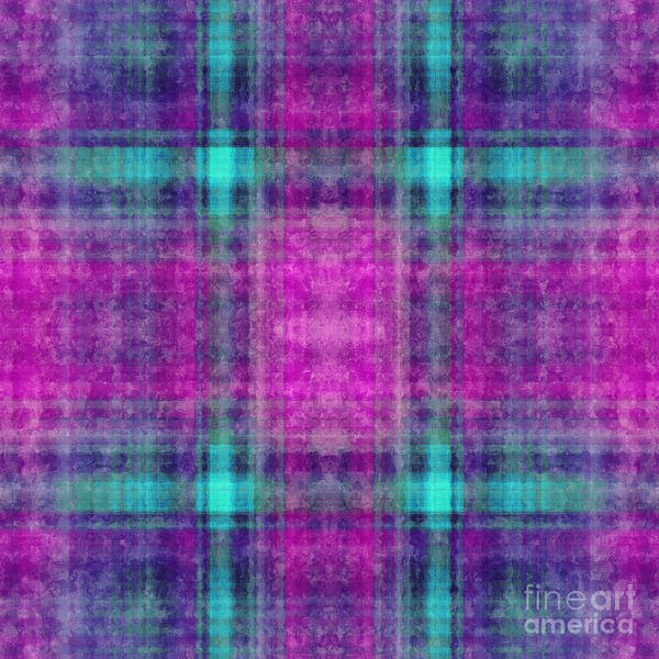 Digital Art - Plaid In Purple 6 Square by Andee Design