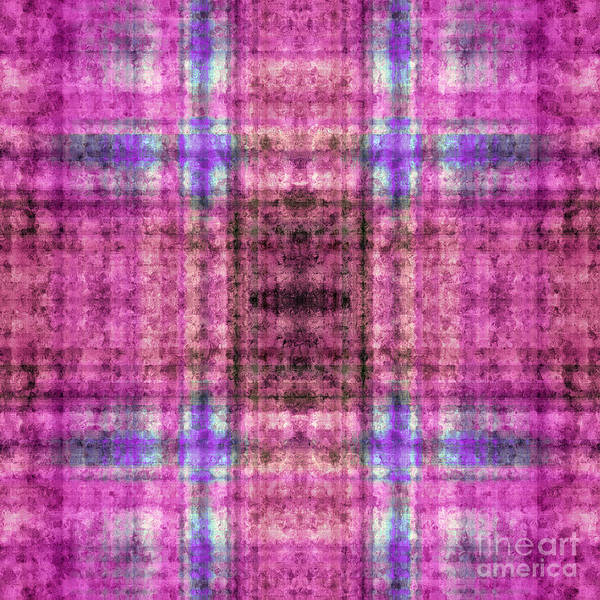 Digital Art - Plaid In Purple 7 Square by Andee Design
