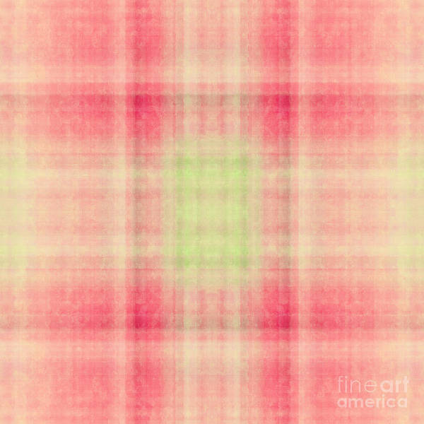 Digital Art - Plaid In Salmon 1 Square by Andee Design