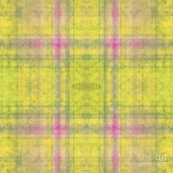 Digital Art - Plaid In Yellow 6 Square by Andee Design