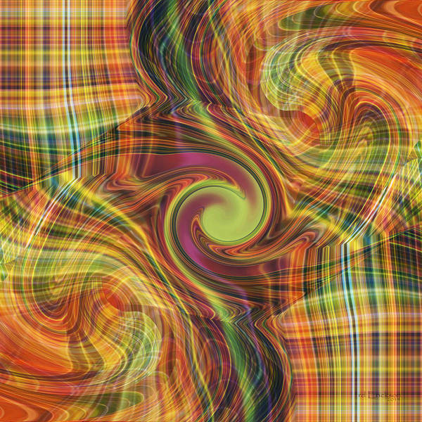 Digital Art - Plaid Tumble by rd Erickson