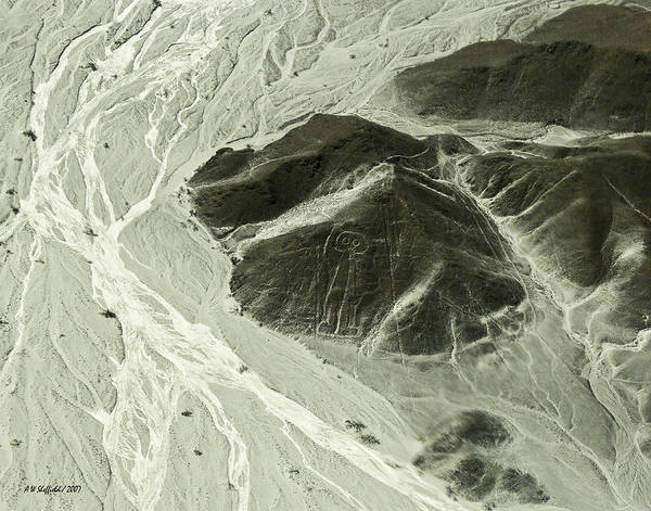 Photograph - Plains Of Nazca - The Astronaut by Allen Sheffield