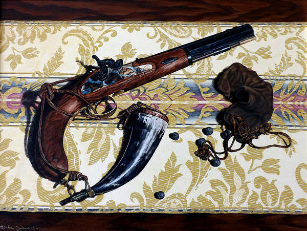 Painting - Plains Pistol by Linda Becker