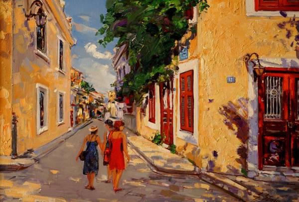 Painting - Plaka Athens by Sefedin Stafa
