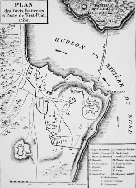 Territory Painting - Plan Of West Point by French School