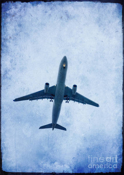 Boarding Pass Photograph - Plane In The Air  by Mohamed Elkhamisy