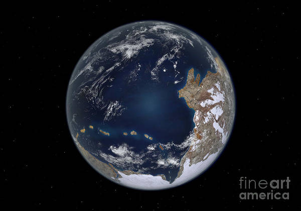 Digital Art - Planet Earth 600 Million Years Ago by Walter Myers