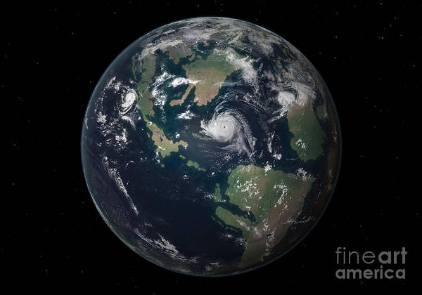 Digital Art - Planet Earth 90 Million Years Ago by Walter Myers