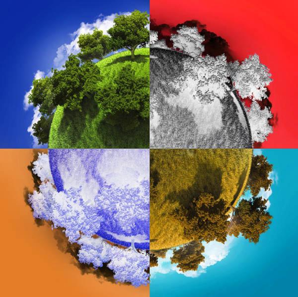 3d Render Digital Art - Planet Earth by Vitaliy Gladkiy