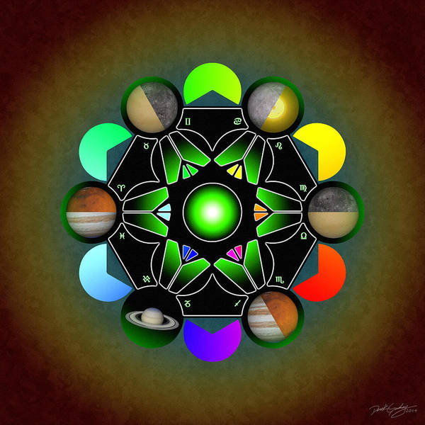 Digital Art - Planetary Metatron Zodiac by Derek Gedney