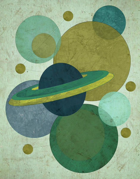 Mod Painting - Planets I by Shanni Welsh