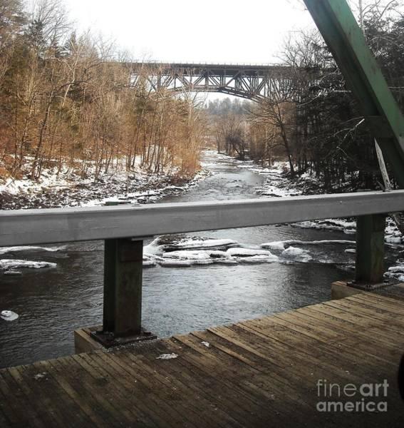 Catskills Photograph - Plank Bridge Catskill Ny by Ellen Levinson