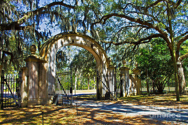 Photograph - Plantation Gate by Melissa Sherbon