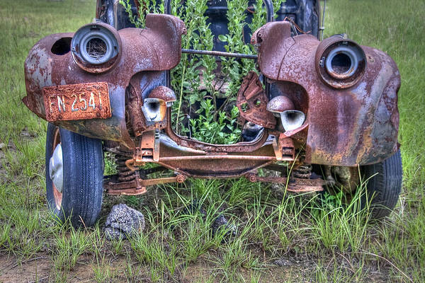 Wrecking Yard Photograph - Planter Box by Danny Pickens