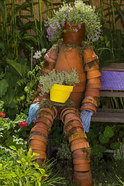 Clay Pot Photograph - Planter Pot Man by Garry Gay