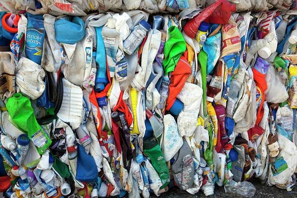 Southeastern Photograph - Plastic Bottles At A Recycling Plant by Jim West