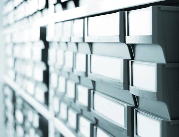 Drawers Photograph - Plastic Boxes by Wladimir Bulgar