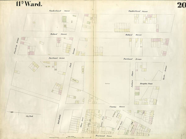 Wall Art - Drawing - Plate 20 Map Bounded By Flushing Avenue by Litz Collection