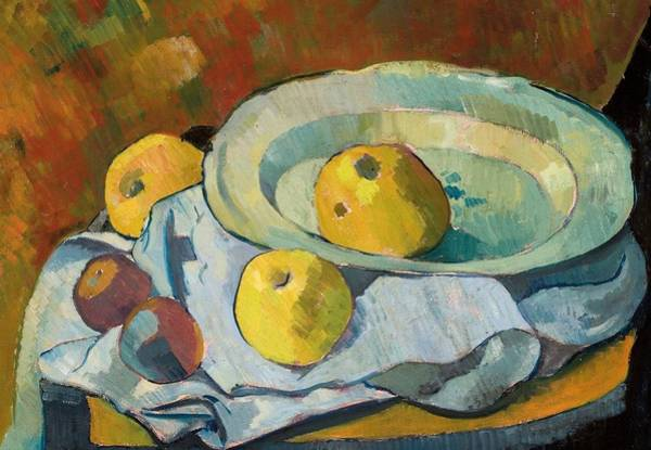 Tablecloth Painting - Plate Of Apples by Paul Serusier