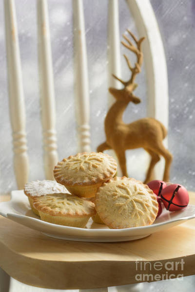 Icing Sugar Wall Art - Photograph - Plate Of Mince Pies by Amanda Elwell