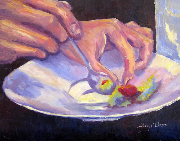 Gordon Ramsay Painting - Plating by Terry  Chacon