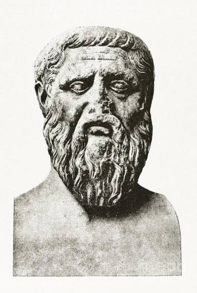 Dialogue Photograph - Plato, Ancient Greek Philosopher by Middle Temple Library